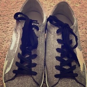 Authentic golden goose silver sneaker